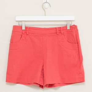 Anthropologie Elevenses Coral Textured Shorts 4